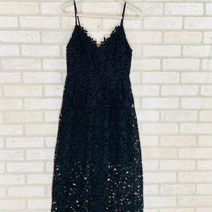 Astr Dresses - Astr Black Lace A Line Midi Dress
